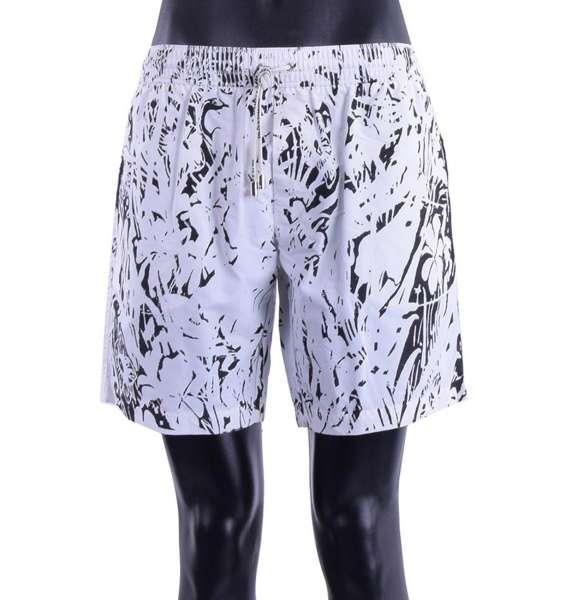 Badeshorts / Boxer mit Blumen-Print und Taschen von DOLCE & GABBANA Beachwear