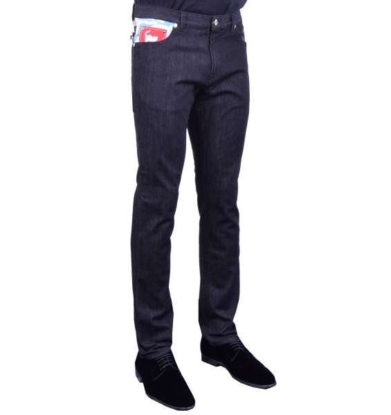 Slim Cut Jeans with Print by MOSCHINO First Line