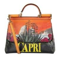 Bag MISS SICILY Capri Orange Green