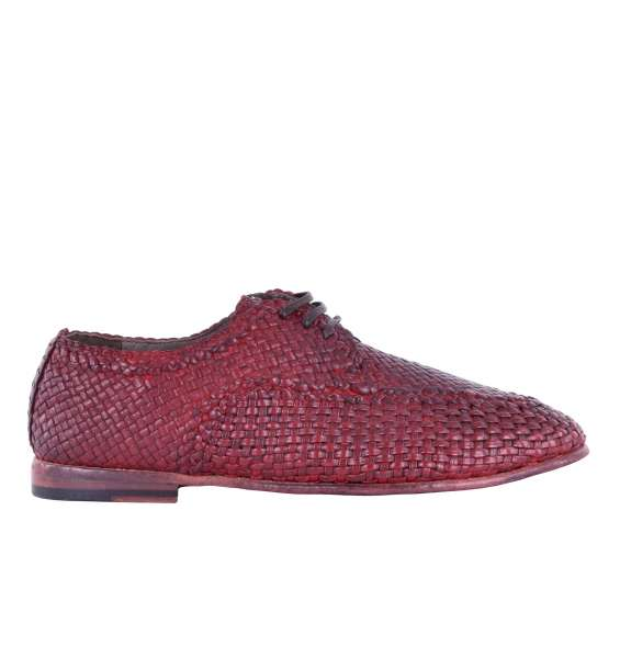 Woven calfskin derby shoes AMALFI with Grid-Deisgn by DOLCE & GABBANA Black Label