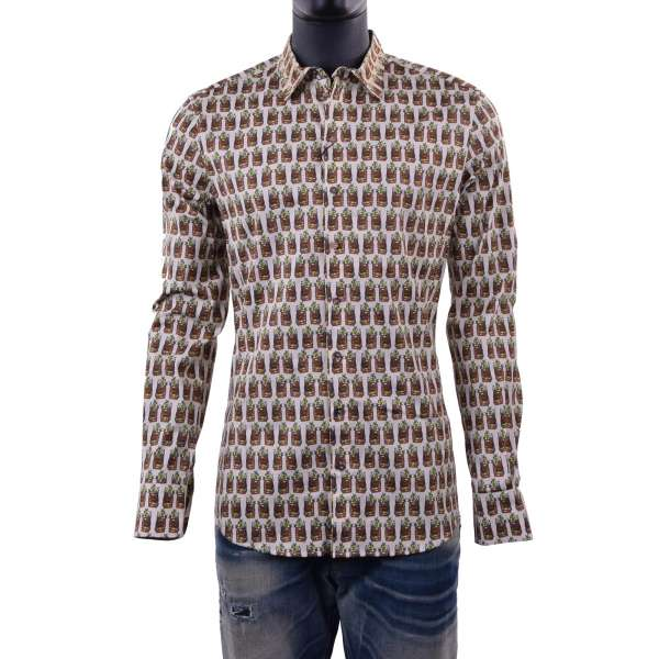 Lemons printed shirt with short collar by DOLCE & GABBANA Black Label - SICILIA Line