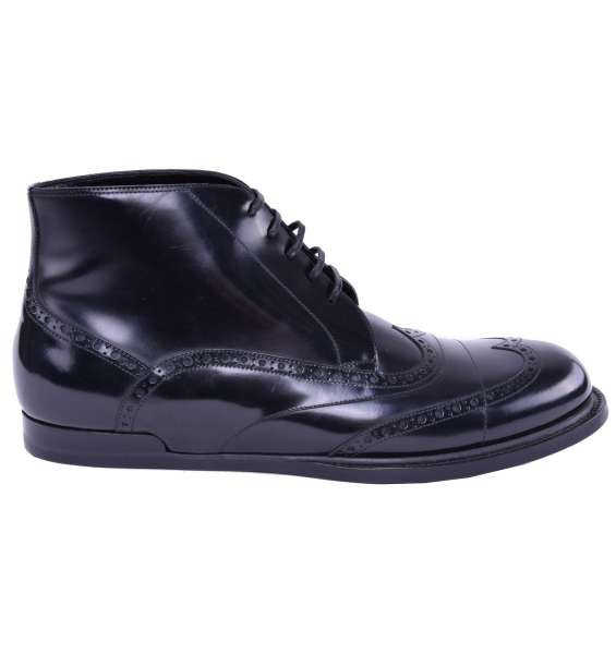 Patent Leather Business Boots by DOLCE & GABBANA Black Label