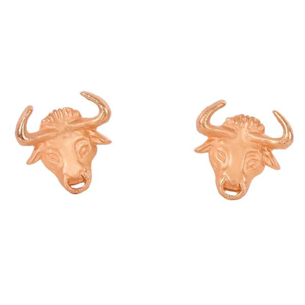 """""""Testa Toro"""" Cufflinks in a form of a bull head with ring in a nose in gold galvanized metal by DOLCE & GABBANA"""