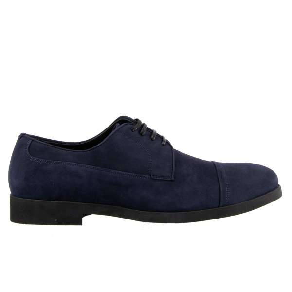 Formal oxford shoes SORRENTO made of suede by DOLCE & GABBANA