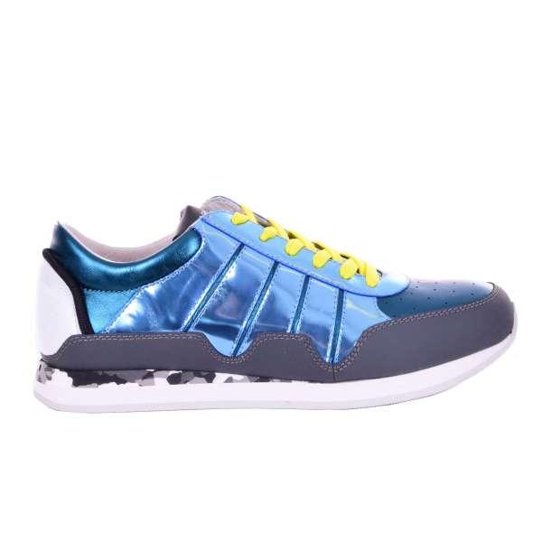 Low-Top Sneaker NIGERIA aus Leder und Lackleder mit Lack Effect von DOLCE & GABBANA Black Label