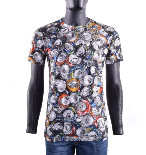 T-Shirt with dollar notes print print by MOSCHINO COUTURE