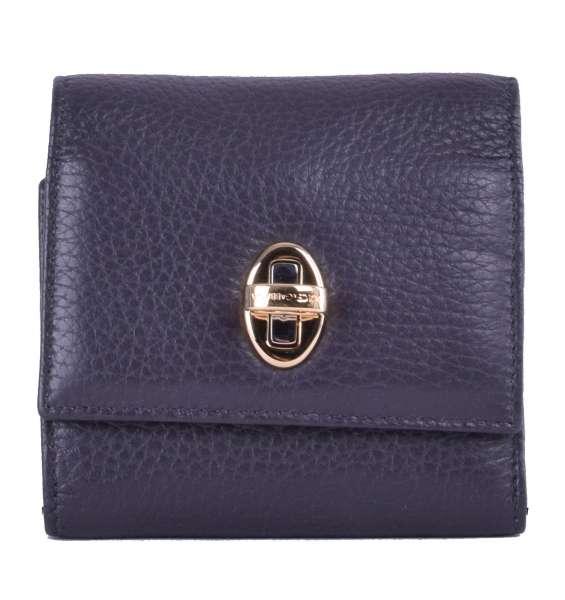Portemonnaie / Geldbörse aus Nappa-Leder mit Drehschloss-Verschluss und Logo von DOLCE & GABBANA Black Label