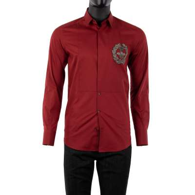 GOLD Shirt with Bee Blazon Red Silver