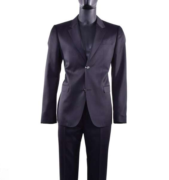 Single-Breasted striped wool business suit by MOSCHINO First Line