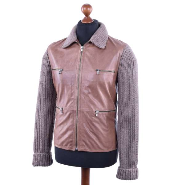 Napa Leather Jacket by DOLCE & GABBANA Black Line