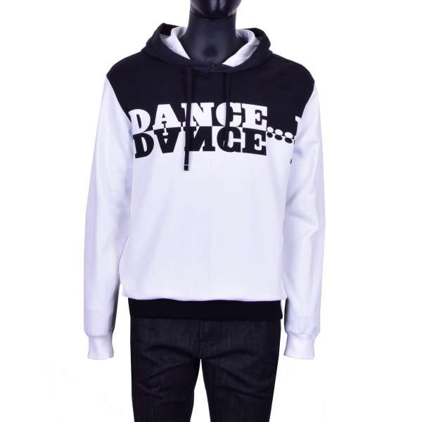 Hoody / Sweatshirt with Print DANCE on both sides by DOLCE & GABBANA Black Line