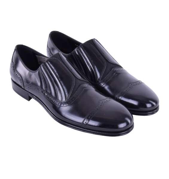 Elastische Loafer MILANO aus glattem Kalbsleder von DOLCE & GABBANA Black Label
