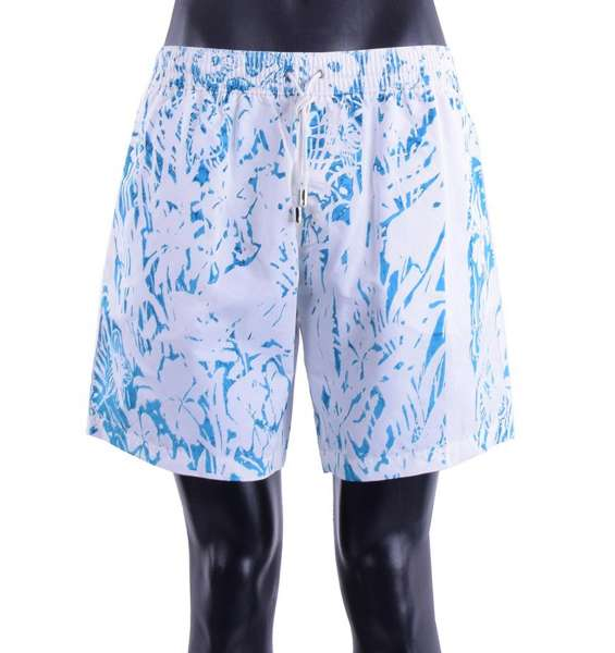 Floral Printed swimming shorts with logo and pockets by DOLCE & GABBANA Beachwear