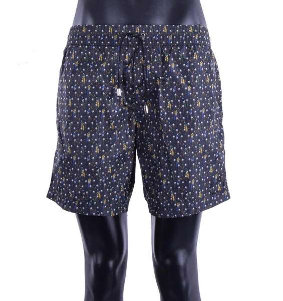 Golf Printed swimming shorts with pockets by DOLCE & GABBANA Beachwear