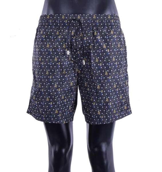 Golf Printed swim shorts with pockets by DOLCE & GABBANA Beachwear