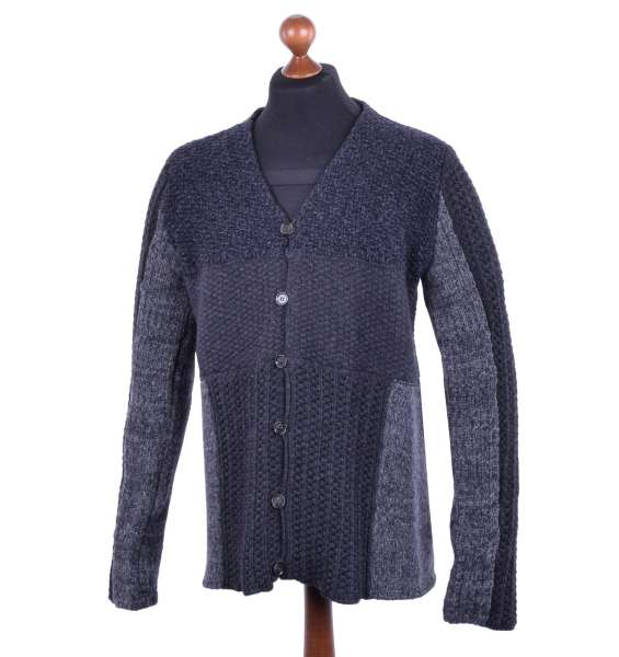 Knitted Virgin Wool Cardigan in Knight Style by DOLCE & GABBANA Black Label