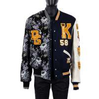 DG King Embroidery Varsity Jacket Blue