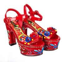 Carretto Plateau Pumps Sandals Red