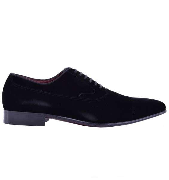 """Broque Velour Shoes """"VENEZIA"""" by DOLCE & GABBANA Black Label"""