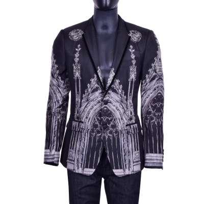 Gothic Cathedral Blazer Silk Black