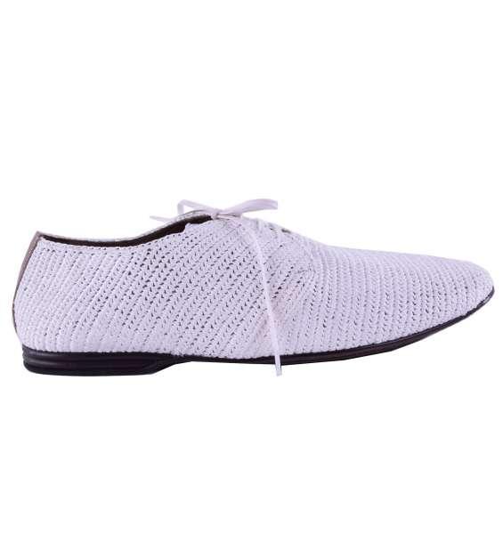 "Woven Viscose Derby Shoes ""Amalfi"" by DOLCE & GABBANA Black Label"