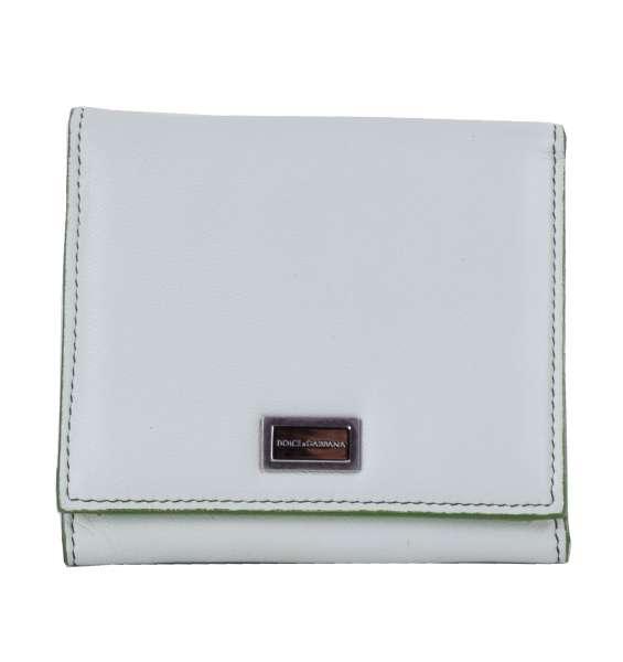 Portemonnaie / Geldbörse aus Nappa Kalbsleder mit Logo-Schildchen von DOLCE & GABBANA Black Label