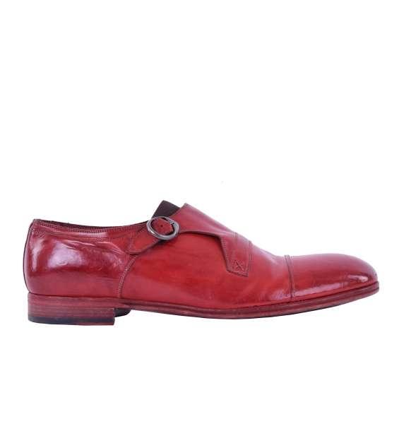 Derby Schuhe MILANO aus glattem Kalbsleder mit seitlicher Schnalle von DOLCE & GABBANA Black Label