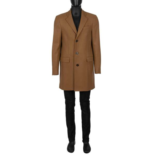 Classic single-breasted 3 buttons Wool Coat by DOLCE & GABBANA