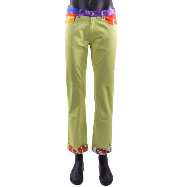 """Sommer-Hose für Männer in Jeans-Stil mit """"Soda Pop""""-Print von MOSCHINO COUTURE"""