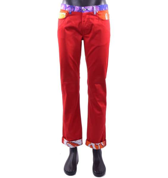 "Jeans-Style summer trousers for men with ""Soda Pop"" Print by MOSCHINO COUTURE"