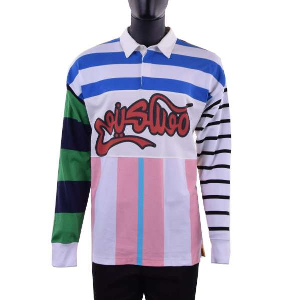 Polo Style Sweatshirt with graffiti print by MOSCHINO