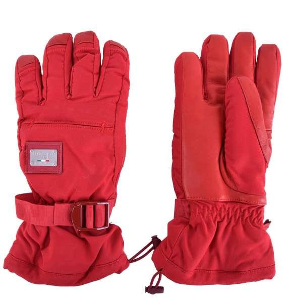 Ski Handschuhe mit Logo von Dolce&Gabbana Black Label