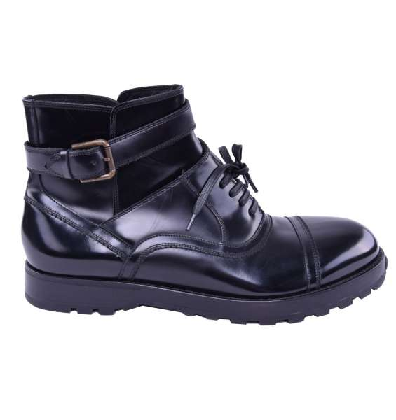 Solid All-Weather Boots by DOLCE & GABBANA Black Label