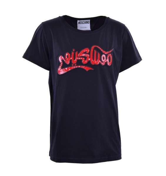 T-Shirt mit aufgenähter Applikation von MOSCHINO COUTURE