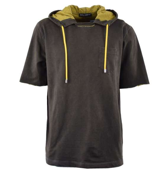 T-Shirt with Hoody by DOLCE & GABBANA Black Label