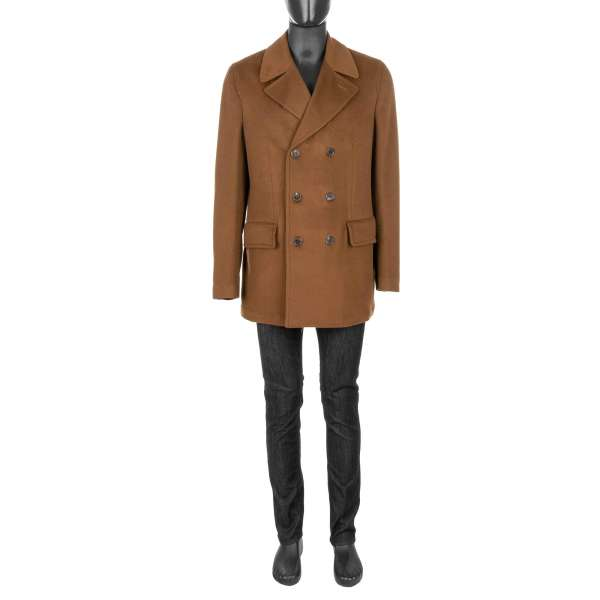 Classic double-breasted 100% Cashmere Coat by DOLCE & GABBANA