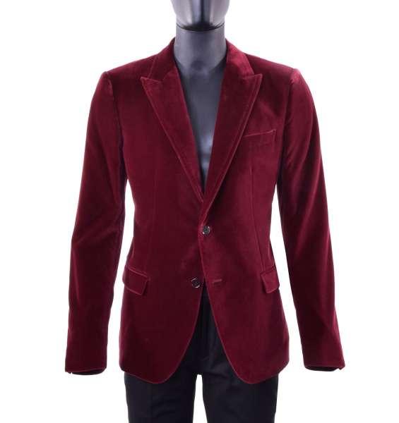Velour Tuxedo Blazer with pointed collar by DOLCE & GABBANA Black Label