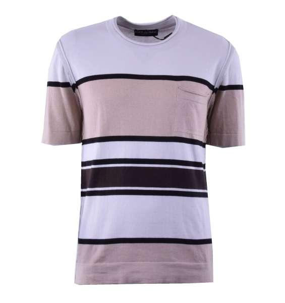 Gestricktes T-Shirt mit Kaschmir-Anteil von DOLCE & GABBANA Black Label