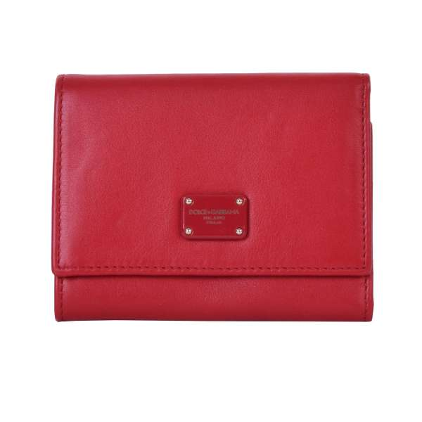 Leather wallet with DG logo in red by DOLCE & GABBANA Black Label