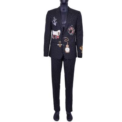 MARTINI Polka Dot Suit with Embroidery