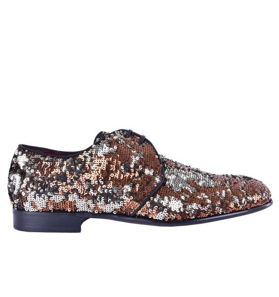"""Bi-Color Shoes """"Milano"""" with Sequins by DOLCE & GABBANA Black Label"""