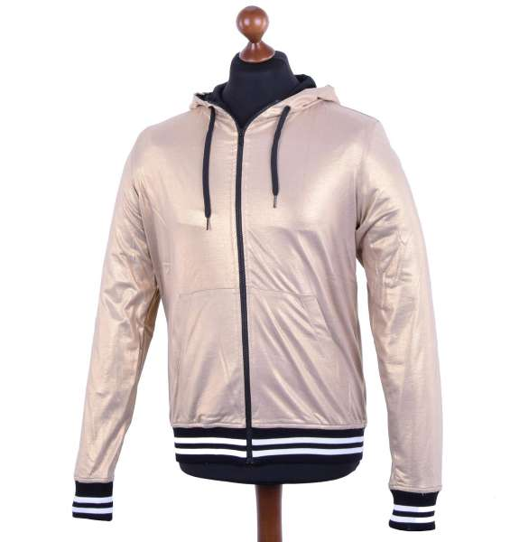 Shiny Hooded Jacket by MOSCHINO First Line