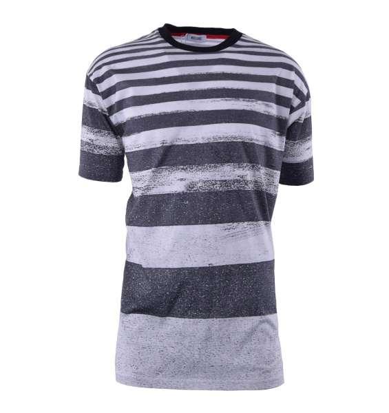 Gestreiftes, lang geschnittenes T-Shirt von MOSCHINO First Line