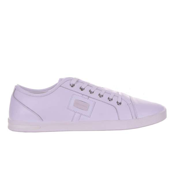 Classic leather sneakers NEW RU with logo plaque by DOLCE & GABBANA Black Label