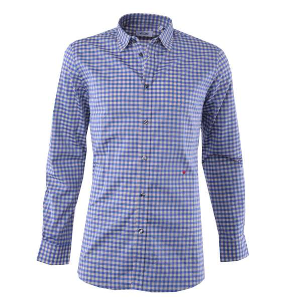 Checked Cotton Shirt with Logo by MOSCHINO First Line