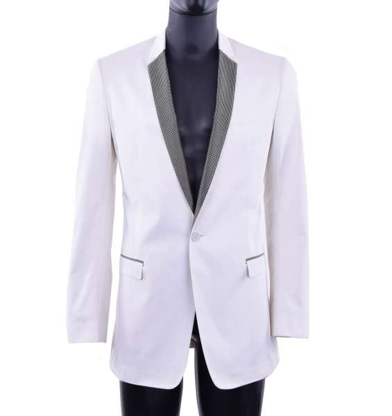 Tuxedo blazer with contrast collar by DOLCE & GABBANA Black Label
