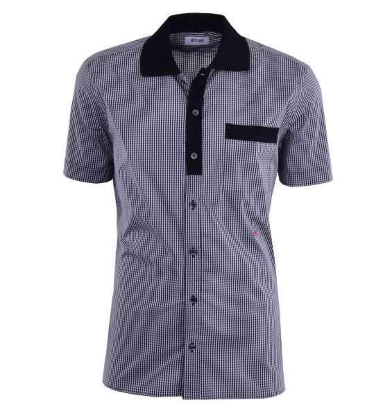 Kariertes Kurzarm-Hemd aus Baumwolle von MOSCHINO First Line