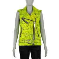 COUTURE Leather Jacket Vest GOING CRAZY Yellow S