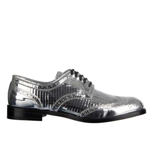 Damen Derby Schuhe BOY DONNA aus Glattleder im Disco-Stil von DOLCE & GABBANA Black Label