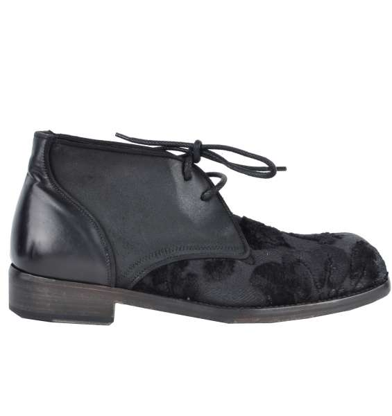 BAROQUE BOOTS by DOLCE & GABBANA Black Label